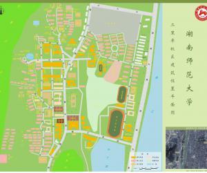 高校导航:湖南师范大学校园平面图