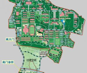 高校导航:华中师范大学校园平面图