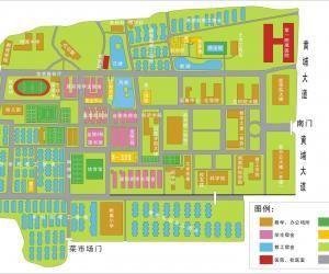 高校导航:暨南大学校园平面图