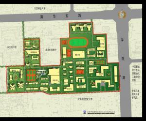 高校导航:中国矿业大学(北京)校园平面图